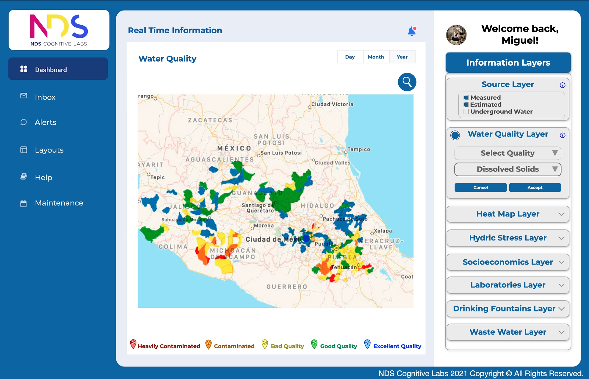 Water Quality Layer Dashboard 2 IoT Water Quality Project - NDS Cognitive Labs_lr