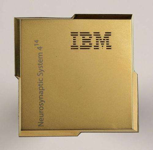 IBM's neurosynaptic processor integrates 1 million neurons and 256 million synapses on a single silicon chip.(Source: IBM)