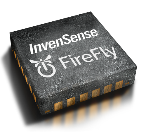 The InvenSense FireFly (ICM-30630) comes in a 3-by-3-by-1 millimeter land grid array (LGA) package(Source: Invensense)