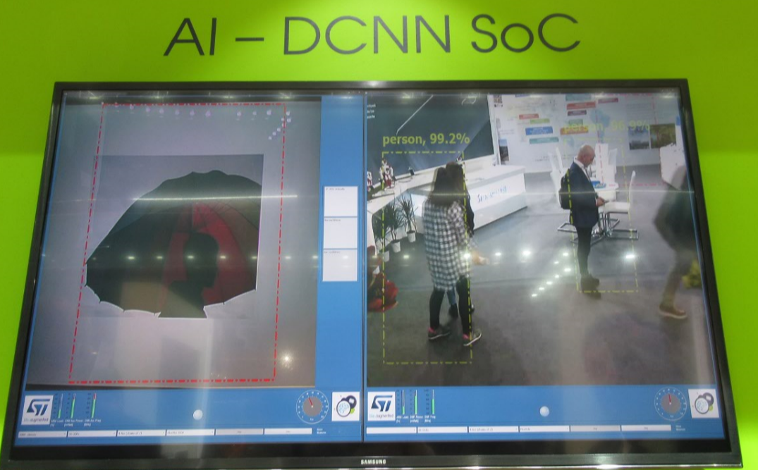 ST's Deep Convolutional Neural Networks (DCNN) SoC (Photo: EE Times)