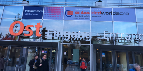 Entrance to Embedded World in Nuremberg. Credit: Nitin Dahad/EE Times